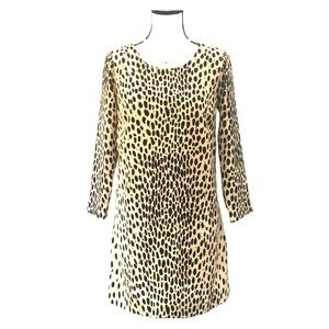 J.Crew Cheetah print long sleeve drop waist size 0